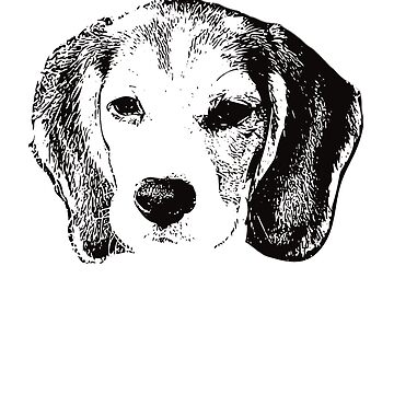 Beagle Puppy Face Design - A Beagle Christmas Gift  by DoggyStyles