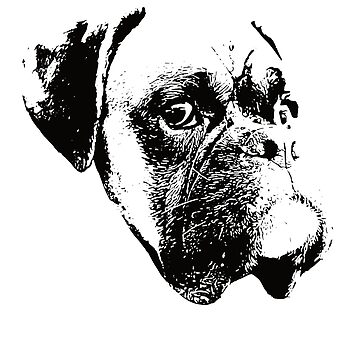 Boxer Dog Face Design - A Boxer Christmas Gift by DoggyStyles