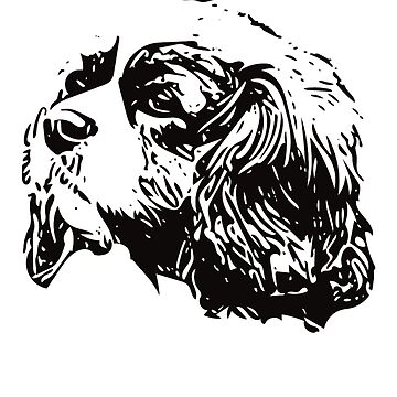 Cavalier King Charles Spaniel Face Design - A Cav Christmas Gift by DoggyStyles
