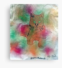 Bild Katze Metalldruck