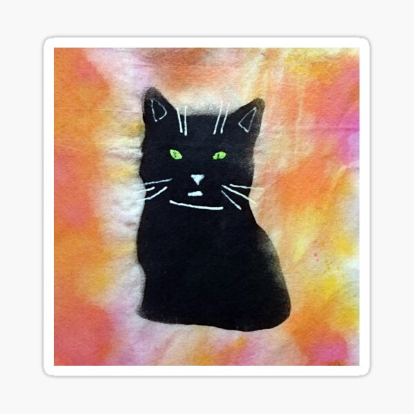 Bild schwarze Katze Sticker