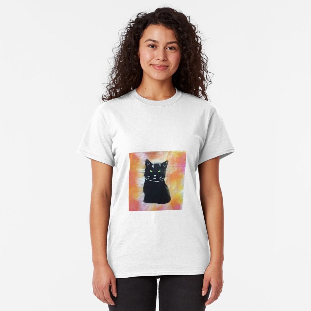 Bild schwarze Katze Classic T-Shirt