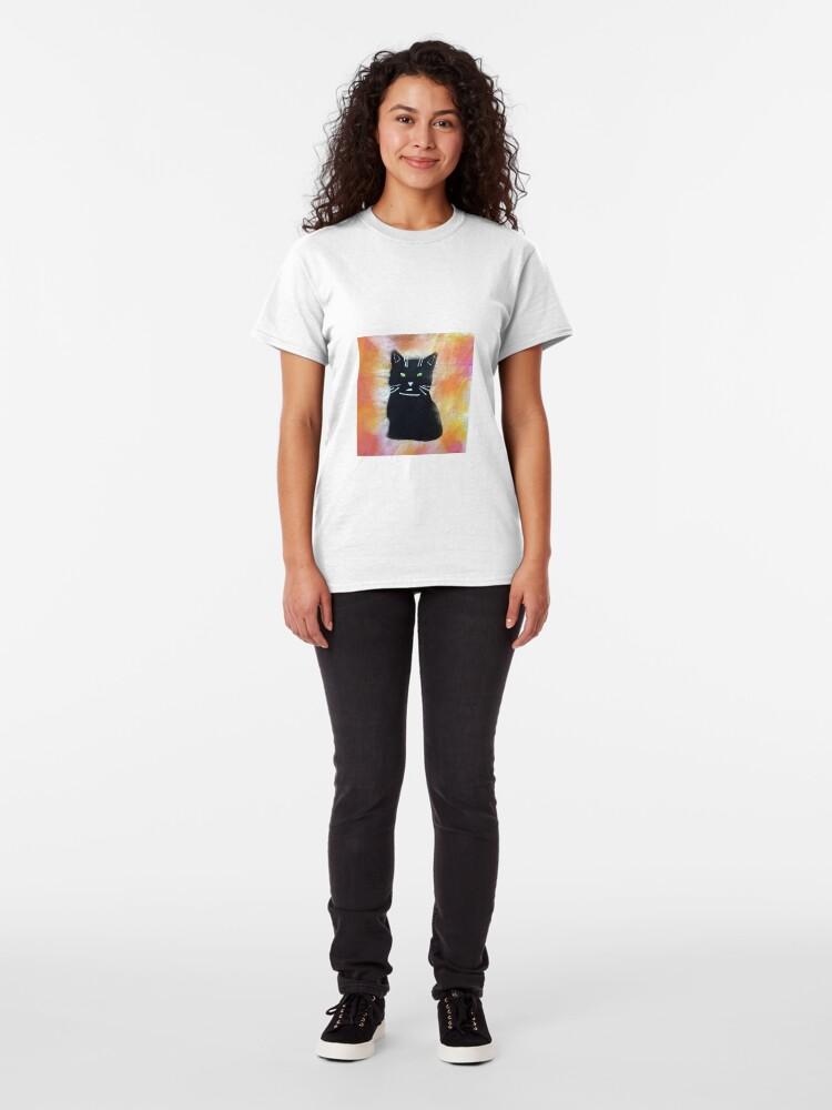 Alternative Ansicht von Bild schwarze Katze Classic T-Shirt