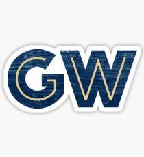 GW textured graphic Sticker