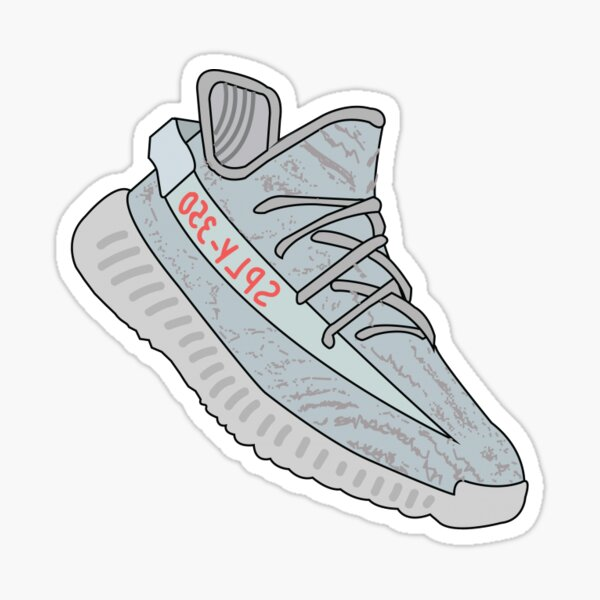 Yeezy 350 Shoes Sticker
