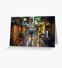 Rainy Day in Bohemian Melbourne Greeting Card