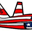 «bandera americana del avión de combate f16» de Statepallets