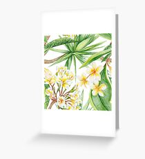 Watercolor Tropical Plants Greeting Card