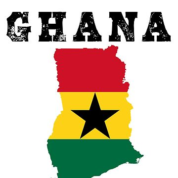 Ghana Map Flag by cnkna