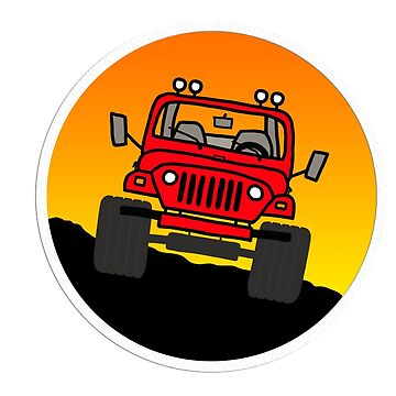 Red Jeep Trail - Front by indicap