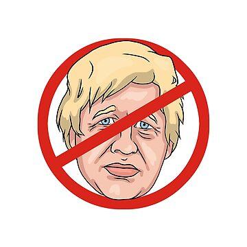 Boris Johnson No Road Sign Illustration by MelancholyDoll