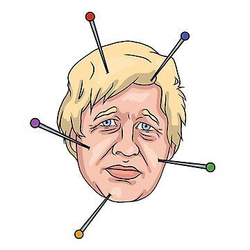 Boris Johnson Voodoo Doll Pin Illustration by MelancholyDoll