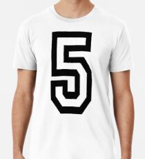 5, TEAM, SPORTS, NUMBER 5, FIFTH, FIVE, Competition,  Premium T-Shirt