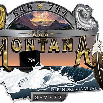 USS Montana SSS-794 by Spacestuffplus