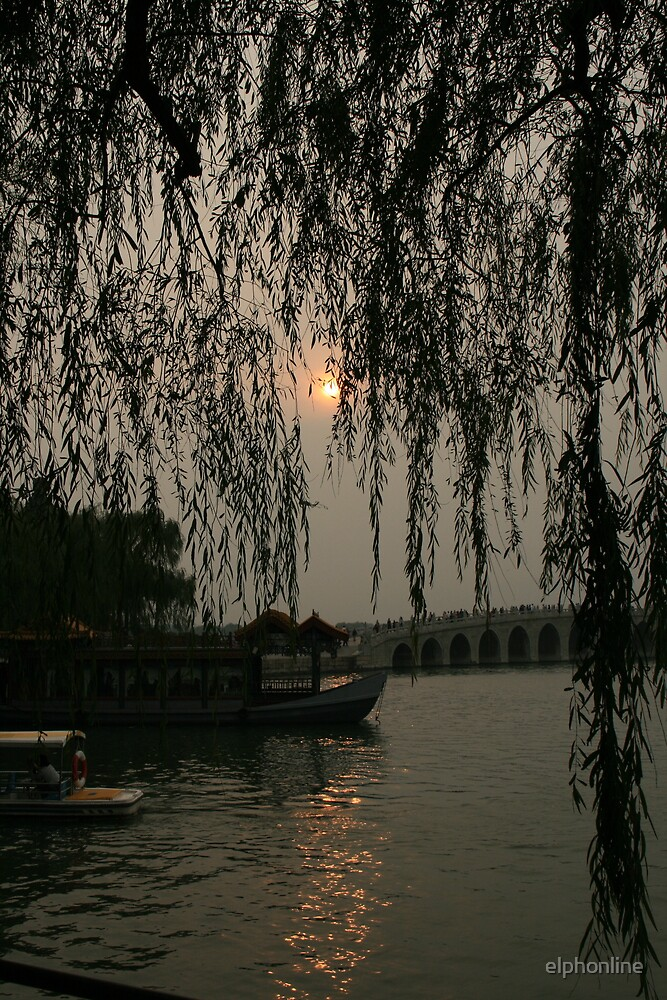 Sunset in Beijing China 2 by elphonline