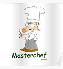 Masterchef Cute Cartoon Cook Poster