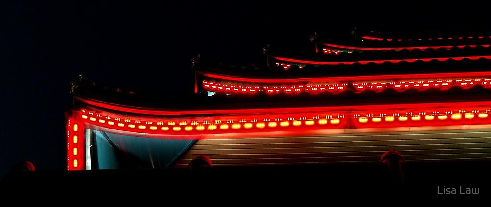 Night Lights at the Pagoda by Lisa Brower