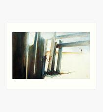 Uncommon Journey - Emotive abstract beach scene Art Print