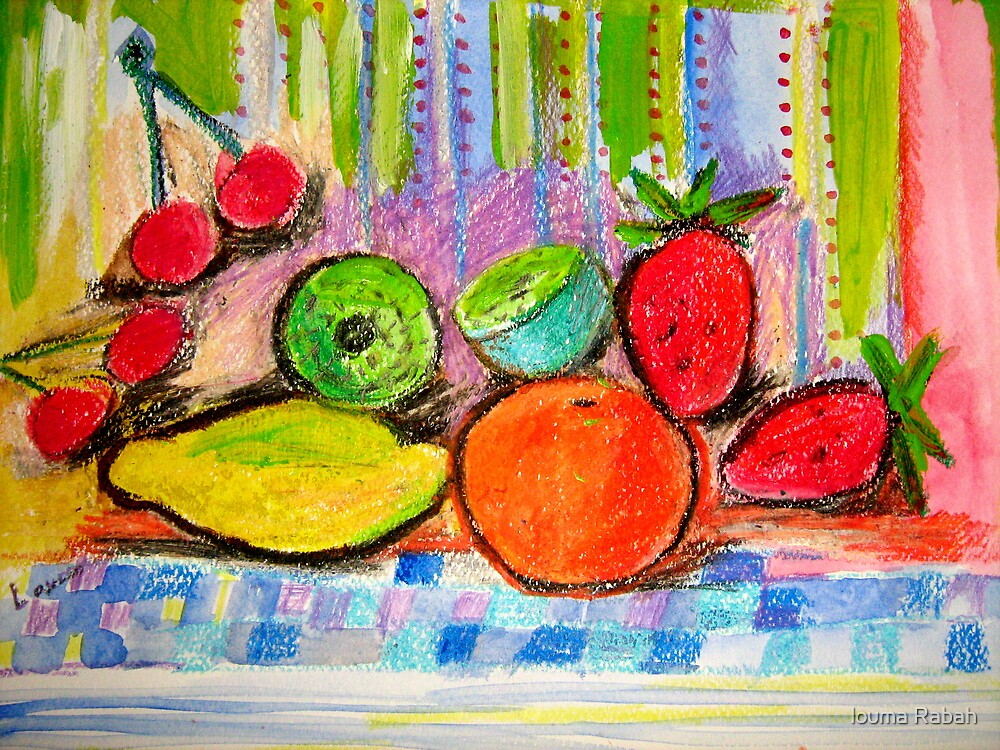 colorful fruits, by Louma Rabah