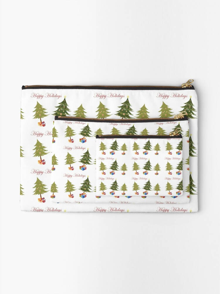 Alternate view of The Presents of Christmas  Zipper Pouch