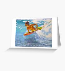 Boogie board and a wave Greeting Card