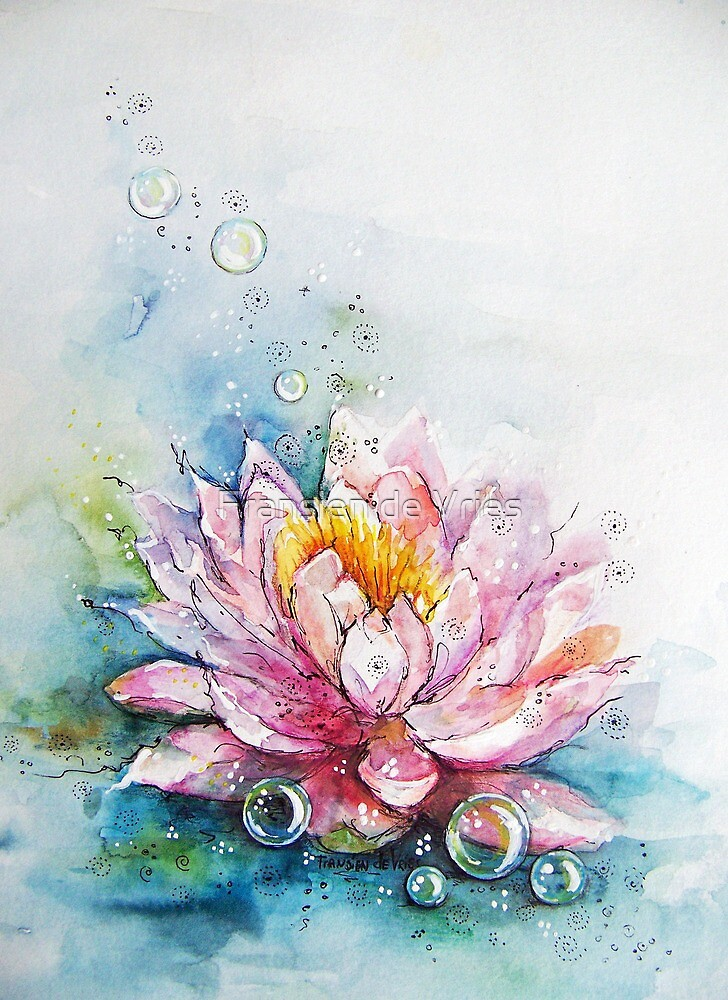 lotus and bubbles by Fransien de Vries