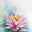 lotus and bubbles by Fransien de Vries