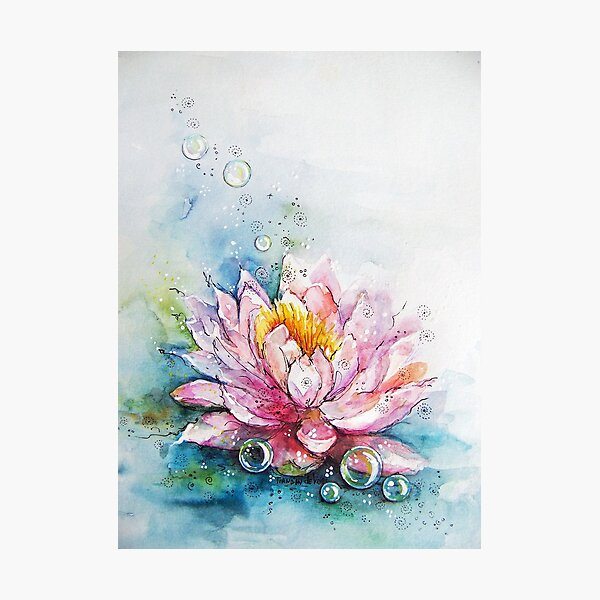 lotus and bubbles Photographic Print