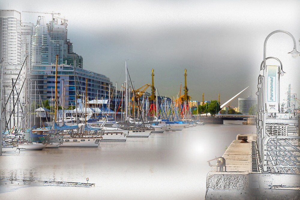 Puerto Madero Dique no 4 Waterfront  up and coming neighbourhood by imagen