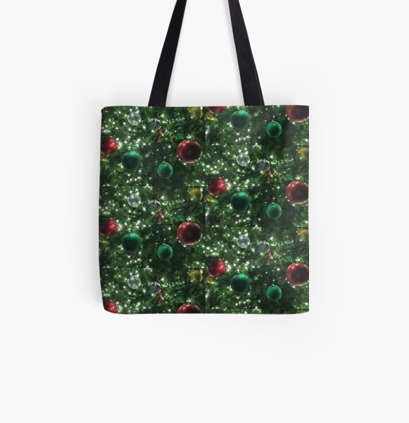 Christmas Baubles All Over Print Tote Bag