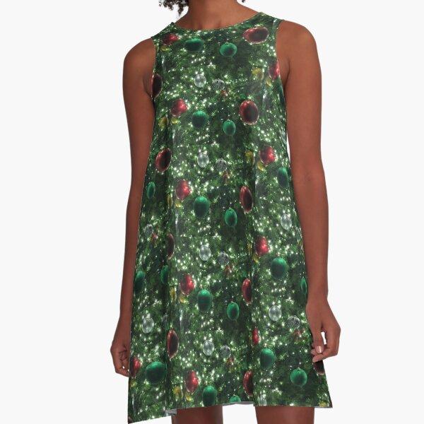 Christmas Baubles A-Line Dress