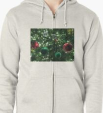 Christmas Baubles Zipped Hoodie