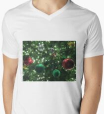Christmas Baubles V-Neck T-Shirt