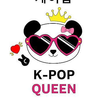 K-POP Queen Panda Design for KPOP Fans by techtrade
