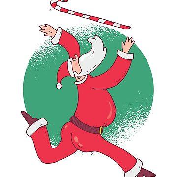 Santa Jumping With Baton by soondoock