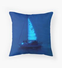 Sailing by moonlight Throw Pillow