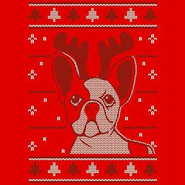 Christmas Pug by soondoock