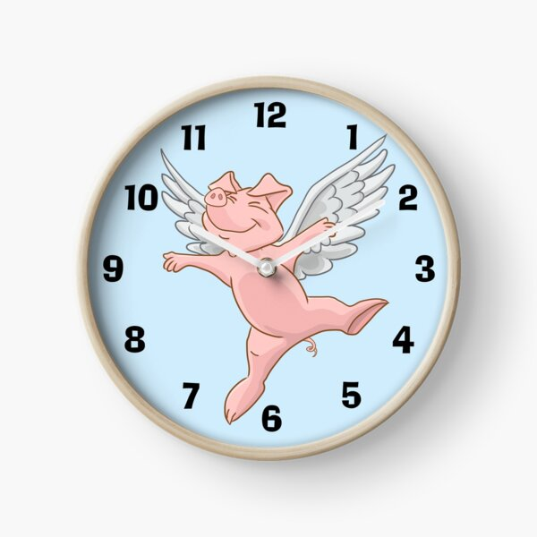 Flying Pig Clock