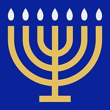 Happy Hanukkah Holiday Celebration Candle Symbol Pattern by rubina