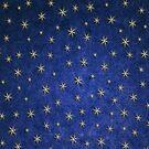 Christmas Starry Night Blue Pattern by Digitalbcon