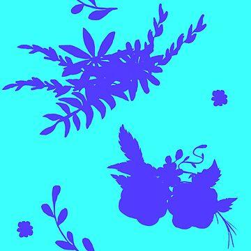 Patrón de flor vibrante de clozano5117