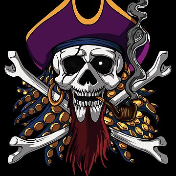 Pirate Skull Crossbones Jolly Roger Sailor by underheaven