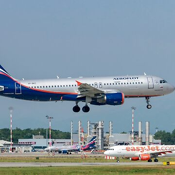 Aeroflot Airbus A320 Photographed at Malpensa airport, Milan, Italy by PhotoStock-Isra