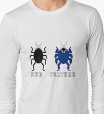 Bug vs Feature funny T-shirt Long Sleeve T-Shirt