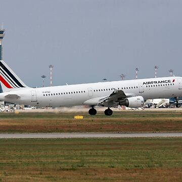 Airfrance Airbus A321 passenger jet at takeoff Photographed at Malpensa Airport, Milan, Italy by PhotoStock-Isra