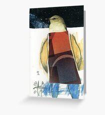 Little Bird Head 01 Greeting Card