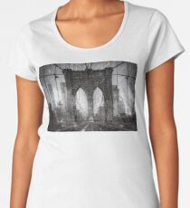 Brooklyn Bridge Snow Day Women's Premium T-Shirt