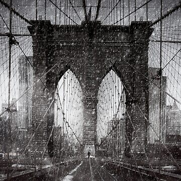 Brooklyn Bridge Snow Day by ChrisLord