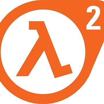 Half Life 2 Lambda Logo Orange by ChevDesign