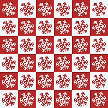 Red and White Checkered Snowflakes by FrankieCat